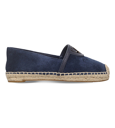 TORY BURCH Sidney suede espadrilles (Navy