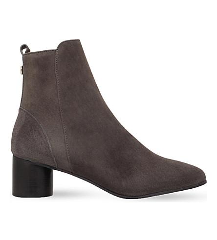 KURT GEIGER LONDON Dare suede ankle boots (Khaki
