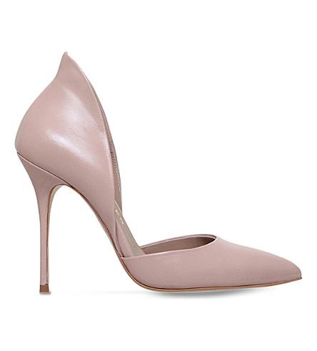 KURT GEIGER LONDON Strike leather heeled courts (Nude