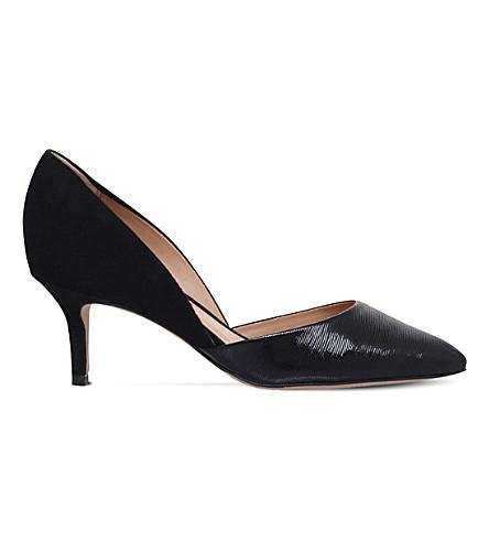 KURT GEIGER LONDON Talli d'Orsay suede court shoes (Black