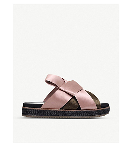 KURT GEIGER LONDON Bloom satin sandals (Pink+comb
