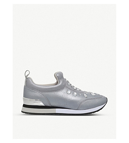TORY BURCH Laney leather slip-on trainers (Silver