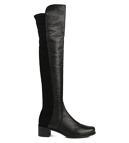 STUART WEITZMAN Reserve stretch-back leather boots (Black