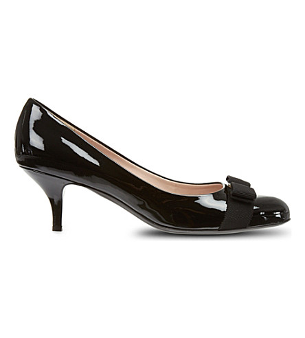 FERRAGAMO Carla 55 patent court shoes (Black