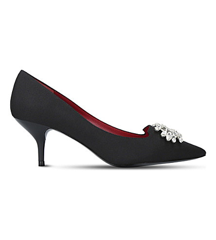 KURT GEIGER LONDON Pia embellished courts (Black