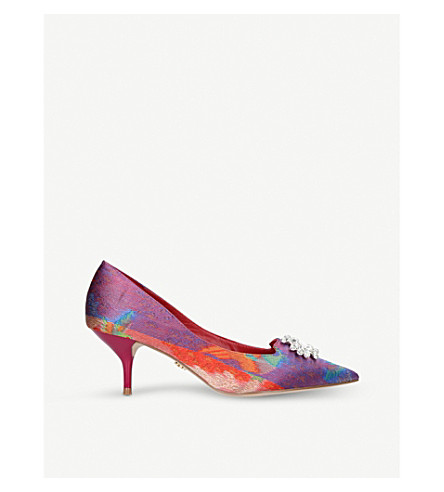 KURT GEIGER LONDON Pia patterned embellished courts (Pink
