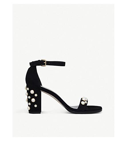 STUART WEITZMAN Bing suede sandals (Black