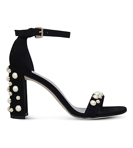 STUART WEITZMAN Morepearls suede sandals (Black