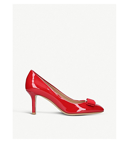 SALVATORE FERRAGAMO Erice 70 leather courts (Red