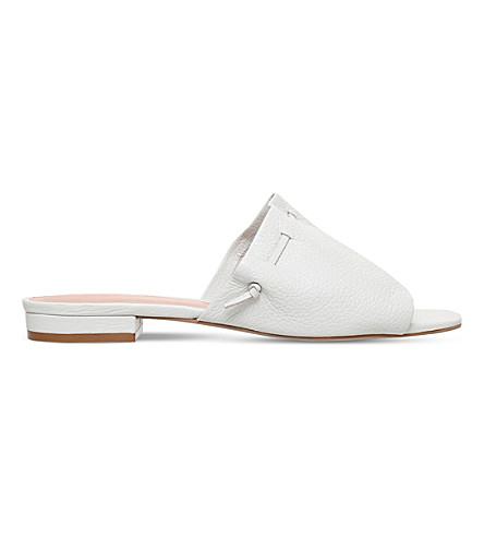 KURT GEIGER LONDON Opal leather mules (Bone