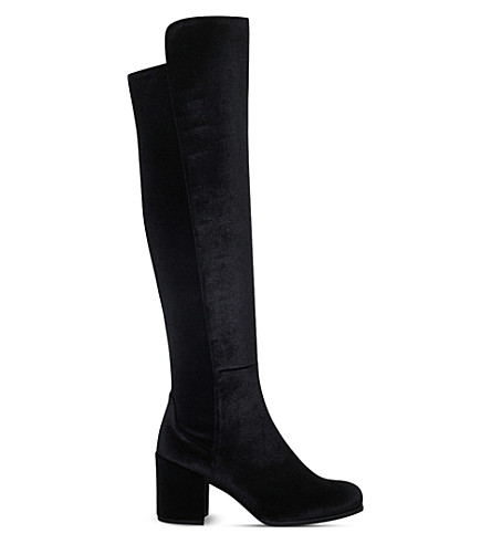 STUART WEITZMAN 50/50 suede knee-high boots (Black