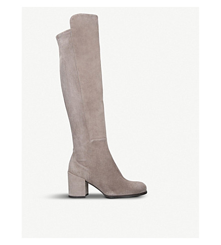 STUART WEITZMAN Alljack suede over-the-knee boots (Taupe