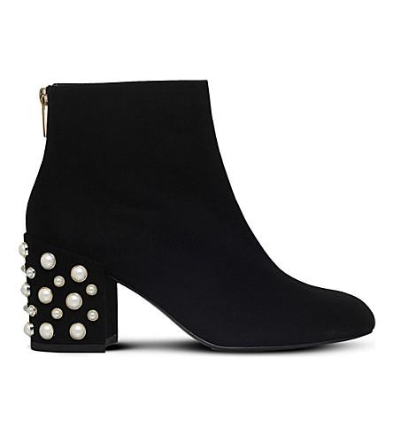 STUART WEITZMAN Embellished suede ankle boots (Black