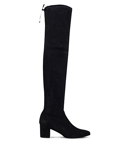 STUART WEITZMAN Thighland over-the-knee suede boots (Black