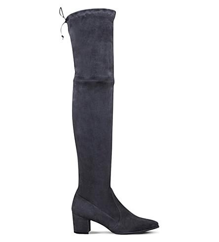STUART WEITZMAN Thighland suede thigh boots (Grey/dark