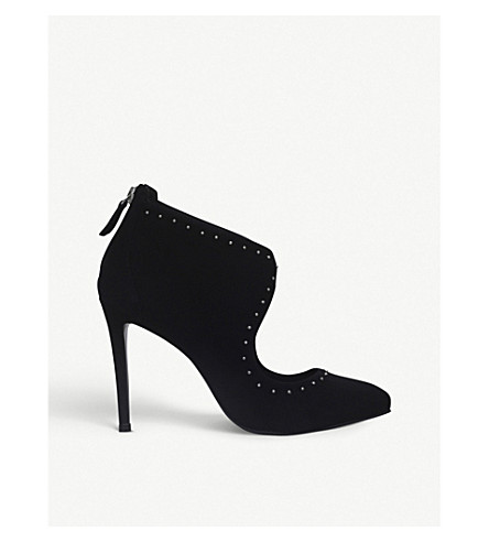KURT GEIGER LONDON Dizzy suede heels (Black