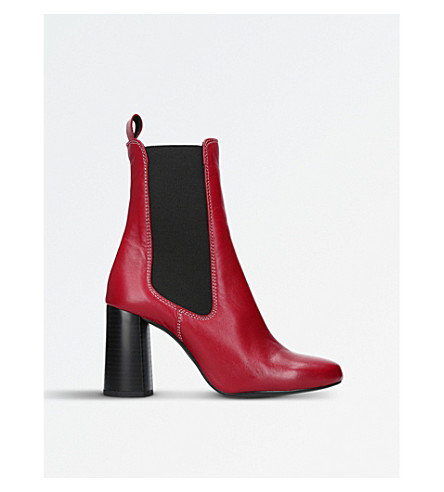 KURT GEIGER LONDON Damsel leather heeled boots (Red