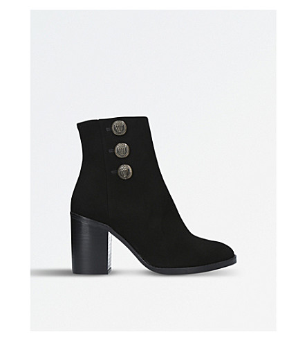KURT GEIGER LONDON Dante suede boots (Black