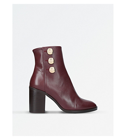 KURT GEIGER LONDON Dante leather boots (Wine