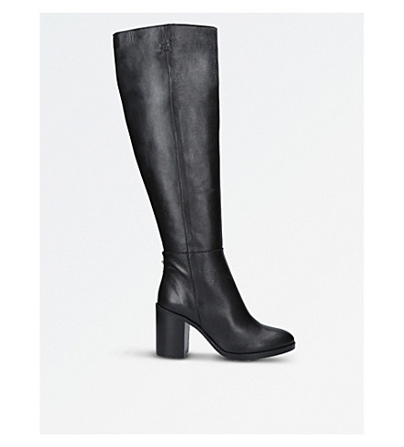 KURT GEIGER LONDON Dora leather knee-high boots (Black