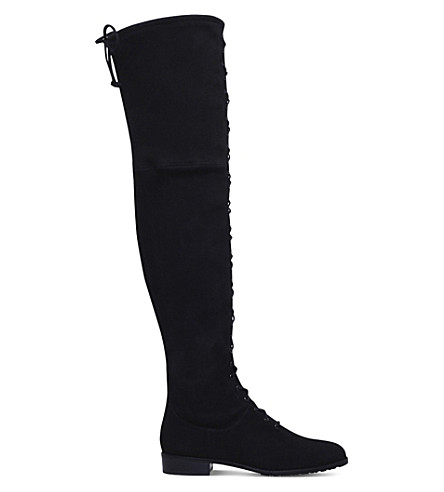 STUART WEITZMAN Exes suede over-the-knee boots (Black