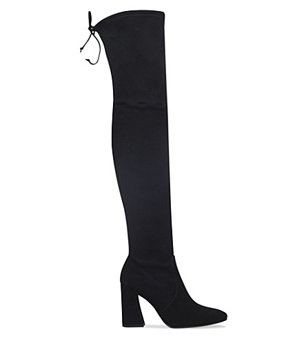 STUART WEITZMAN Funland suede over-the-knee boots (Black