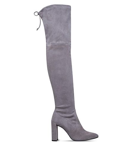 STUART WEITZMAN Funland suede over-the-knee boots (Taupe