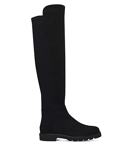 STUART WEITZMAN Halfnote suede over-the-knee boots (Black