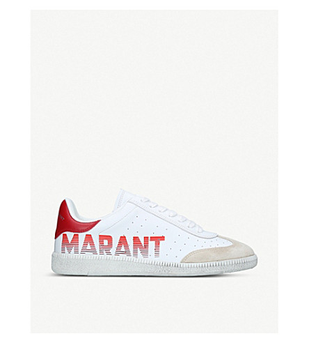 ISABEL MARANT Bryce leather trainers (White/oth