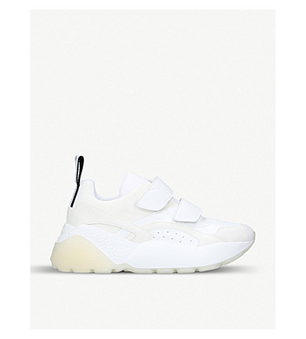 STELLA MCCARTNEY Eclypse faux-leather and suede trainers (White