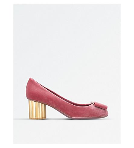 SALVATORE FERRAGAMO Capua satin heeled pumps (Pink
