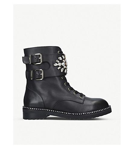 KURT GEIGER LONDON Stoop leather biker boots (Black