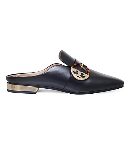 TORY BURCH Sidney backless loafers (Black