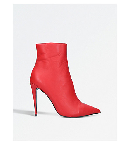 KURT GEIGER LONDON Ride stiletto ankle boots (Red