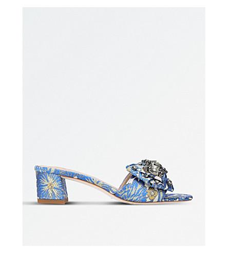 TORY BURCH Valentina brocade embellished mules (Mult/other