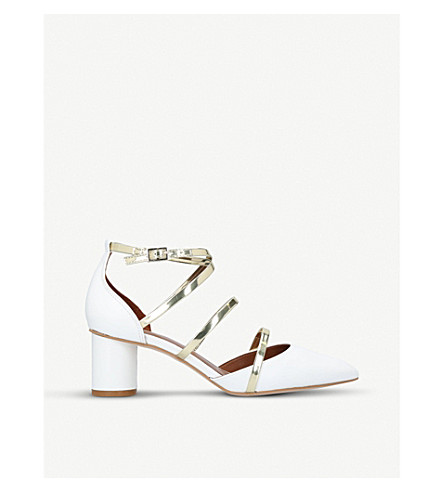 KURT GEIGER LONDON Hays strappy court shoes (White