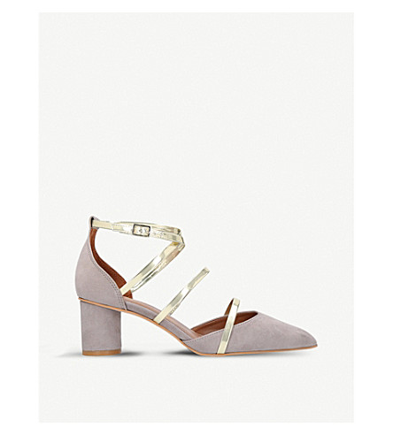 KURT GEIGER LONDON Hays strappy court shoes (Grey