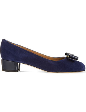 FERRAGAMO Vara suede court shoes