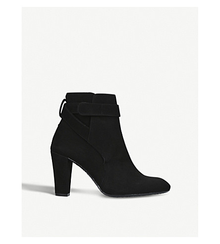 KURT GEIGER LONDON Mid heel suede ankle boot (Black