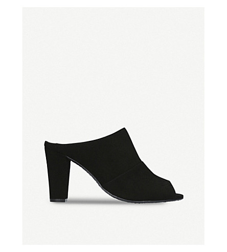 KURT GEIGER LONDON Cynthia peep-toe suede mules (Black