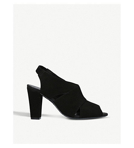 KURT GEIGER LONDON Clarence suede courts (Black
