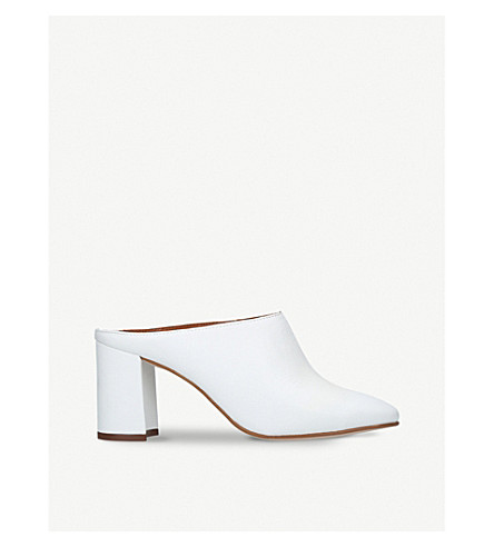 KURT GEIGER LONDON Chelsea backless leather mules (White