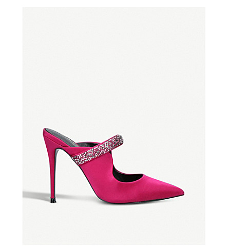 KURT GEIGER LONDON Lexington satin heeled mules (Pink