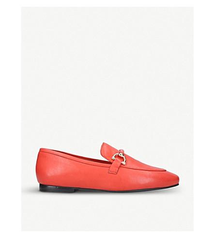 KURT GEIGER LONDON Karima leather loafers (Red
