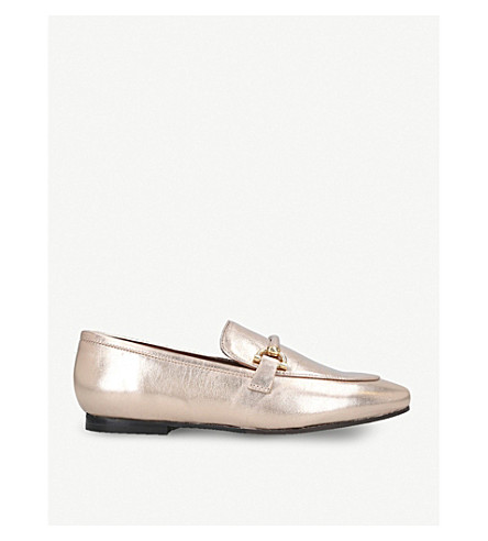 KURT GEIGER LONDON Karima leather loafers (Gold