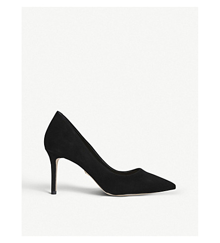 KURT GEIGER LONDON Brook suede court shoes (Black