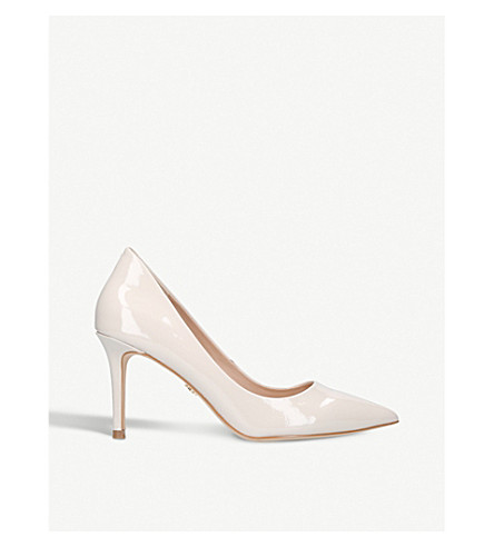 KURT GEIGER LONDON Brook patent leather courts (Nude
