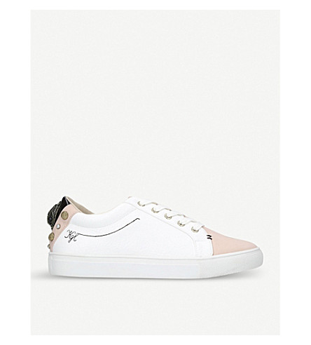 KURT GEIGER LONDON Ludo quilted eagle-detailed trainers (Nude