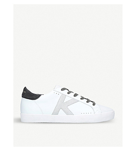KURT GEIGER LONDON Leif logo-detail leather trainers (White/comb