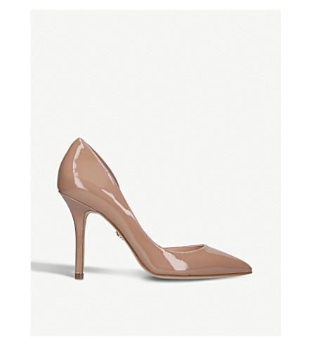 KURT GEIGER LONDON Belgravia patent heeled courts (Nude